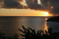 coucher de soleil vue de la villa bleu caraibes a bientot -  Photos de vacances de Antilles Location #Martinique