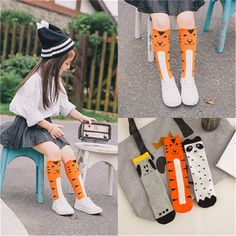 6d8adacb840 2017 Newborn Kids Girl Boy Animal Pattern Socks Knee High Sock Baby Socks  fox Cat Cotton Cute Cartoon infant Toddler Long Socks