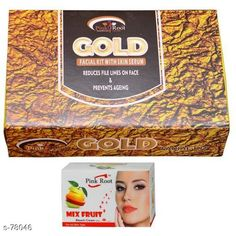 Checkout this latest Masks Product Name: *Pink Root Gold Facial Kit, Mix Fruit Bleach Cream Pack of 2 * Name: PR-FACIAL-GOLD-BLEACH-FRUIT Size: 130 Grams Dimension: (L X B X H) - 15 cm X 10 cm X 6 cm Description: Pink Root Gold Facial Kit Mix Fruit Bleach Cream Pack of 2 Country of Origin: India Easy Returns Available In Case Of Any Issue   Catalog Rating: ★4 (310)  Catalog Name: Beauty Products For You CatalogID_7877 C170-SC2014 Code: 322-78046-534