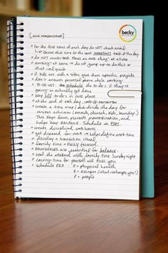 Really great time management tips! Need to start this!