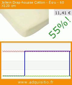 Jollein Drap-housse Cotton - Écru - 60 X120 cm (Puériculture). Réduction de 55%! Prix actuel 11,41 €, l'ancien prix était de 25,52 €. https://www.adquisitio.fr/jollein/drap-housse-cotton-%C3%A9cru-2