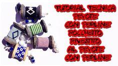 Tutorial Tecnica Peyote con Perline-Ciondolo Rocchetto Rivestito al Peyo...