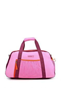 Стильная спортивная сумка от Reebok. Модель выполнена из высококачественного износоустойчивого материала розового оттенка с темно-фиолетовыми вставками и ярко-оранжевой окантовкой. Детали: два внешних кармана из сетки, карман на молнии, два отделения на молнии, внутри три кармана, дополнительный ремешок на карабине. http://j.mp/1pPRC1c