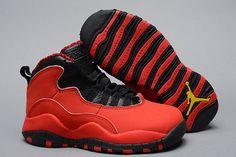 Air Jordan Nike Brand Retro 10 Girls Sneakers-Kids Size-Color:Black/Laser Orange/Fusion Red