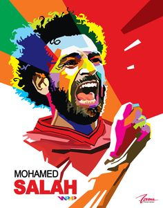Liverpool Fc, Liverpool Football Club, Soccer Art, Football Art, Fifa, Mohamed Salah Liverpool, Premier League, Mo Salah, Pop Art Portraits