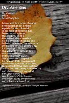 Dry Valentine - Poetry Art