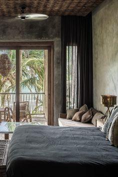 Hotel Be Tulum, Mexico - Design rooms Be Tulum Hotel, Tulum Hotels, Hilton Hotels, Luxury Home Decor, Luxury Interior, Interior Architecture, Hotel Bed, Hotel Suites, Bed Design