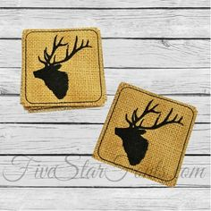 Elk Coasters In The Hoop Craft Show Ideasgifts