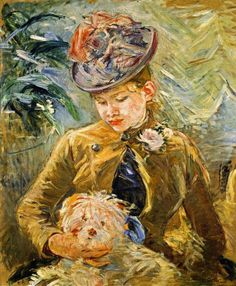 Girl with a Dog - Berthe Morisot  1887