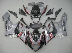 SUZUKI GSX-R 1000 2005-2006 K5 ABS Fairing - Gray/Black #2005suzukigsxr1000fairings #05gsxr1000fairings