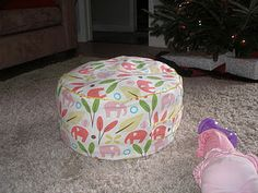 Kids DIY floor cushion!