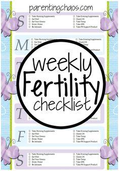 FREE Weekly Fertility Printable