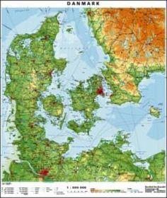 Danmarkskort 1:600000