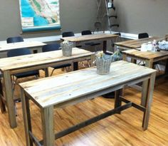 Reclaimed Wood Work Table/Desk, unfinished