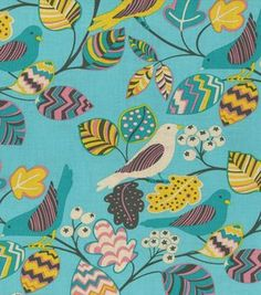 Jules & Coco Floral Bird Teal