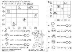 "Situación espacial en una cuadrícula ""3er grado"" - Material de Aprendizaje Montessori Activities, Spanish Class, Math Lessons, Teaching Resources, Worksheets, Language, College, Education, Google"