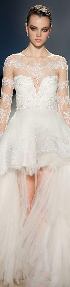 Pavoni wedding dress.