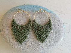 Macrame Boho Earrings / Tribal Earrings / Spiritual Jewelry | Etsy