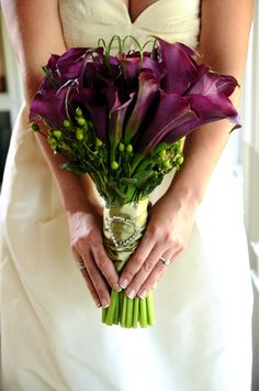 Purple Calla Lily Bouquet