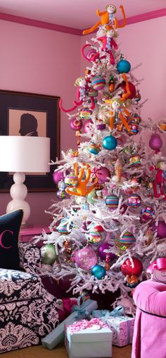 Whimsical - reminds me of my sweet grandmother's pink metallic Christmas tree~