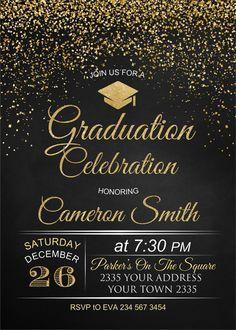 Invitación de la fiesta de graduación. Invitación de la