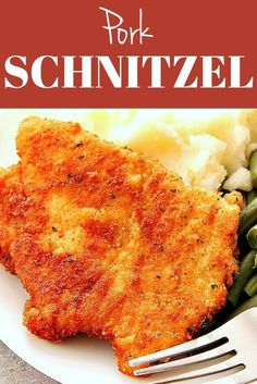 German Pork Schnitzel - Crunchy Creamy Sweet Pork Schnitzel - crispy and juicy schnitzel made with thin pork loin cutlets, lightly breaded and fried to golden perfection. Pure comfort food at it's best! Pork Cutlet Recipes, Schnitzel Recipes, Pork Schnitzel, Cutlets Recipes, Pork Chop Recipes, Meat Recipes, Chicken Recipes, Cooking Recipes, Breaded Pork Chops
