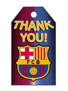 FC Barcelona Birthday Thank You Tag -  Note: this is an Instant Download (.jpeg file) Nothing is physically sent to you!  This cute Barbie style birthday themed set includes 8 tags on an 8,5 x 11 inches sheet.  Format File: PDF and JPEG (high resolution, 300 dpi) Tag size:3x4 inch Sheet size: (8,5 x 11 inch)  INSTANT DOWNLOAD:  Just add this listing to your Etsy cart and check out  Then you will get an email with the download link. You can also come back to your Etsy purchase account and…