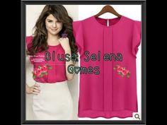 Como fazer blusa com prega e babado nas mangas de Selena Gomez   ModaByNill - YouTube