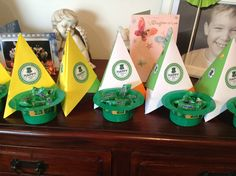 Paper Pyramid Center Pieces for St.Patrick's Day