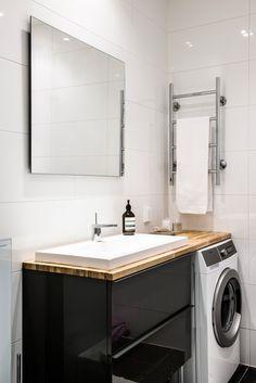 Bathroom: Interesting decoration and ideas 2018 Bathroom Renos, Budget Bathroom, Bathroom Renovations, Bathroom Storage, Small Bathroom, Mini Loft, Dream Apartment, Bathroom Inspo, Scandinavian Home