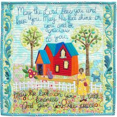 May The Lord Bless You applique quilt pattern by Piece O Cake Designs