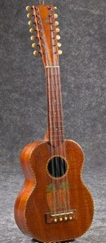 14 string Kamaka Tiple Ukulele- too much of a good thing? =3=2=Ukulele of the day - a year ago --- https://www.pinterest.com/lardyfatboy/