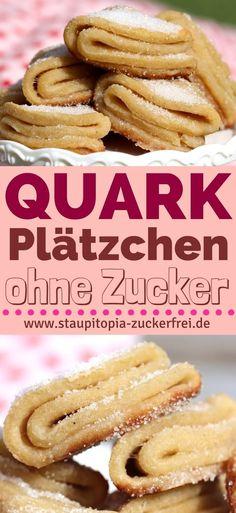 Quarkplätzchen ohne Zucker mit Erythrit und Kokosöl ganz einfach selber machen. #lowcarb #plätzchen #backen