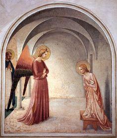 Fra Angelico, L'annonciation, Convento di San Marco, Florence, 1440-42 (source : wga) Fra Angelico, L'annonciation, Convento di San Marco, Florence, 1440-42