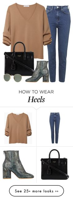 """""""Eventually"""" by laurenthelabel on Polyvore featuring Topshop, J.W. Anderson, Yves Saint Laurent, Ray-Ban, Maison Margiela and laurenthelabel"""