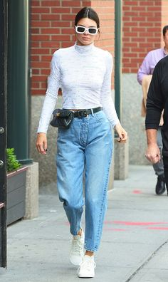 Kendall Jenner just wore yet another unexpected look, and it's something your mom might've worn in the '80s. Check it out here.