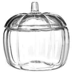 Halloween Pumpkin Glass Jar - Clear : Target