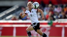Leonie Maier of Germany runs with the ball