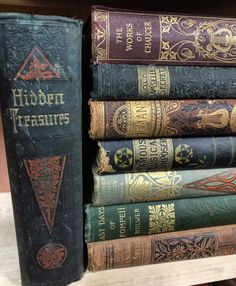 Distressed Vintage Cloth. Some extraordinary books in this selection!