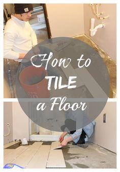 DIY Tile Flooring In