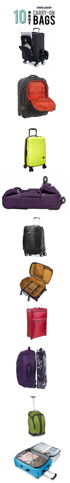 10 best carry-on bags for every traveler. Click the infographic to find out which bags made the cut and why. #travel #travelproducts #bags