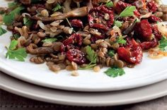 Thing 1, Kung Pao Chicken, Lentils, Salads, Veggies, Beef, Healthy, Ethnic Recipes, Food