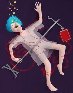 Despertó en el hospital. Lo despertaron unas voces. La enfermera. Al verla lo supo. Supo que todo había cambiado en su vida, no porque le hubiera pasado algo grave en el accidente sino porque había estado ... | Texto de Jorge Chípuli | Ilustración de Alfonso Zomb