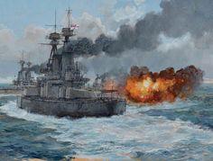 Battle of Jutland Part III: Clash between British and German Battle Fleets during the evening 31st May 1916