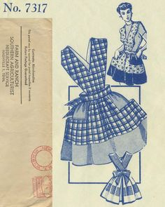 Vintage Apron Sewing Pattern | Mail Order 7317 | Year 195? | One Size