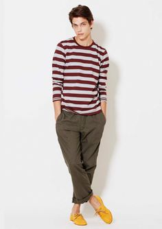 Colored loafers + more stripes | UNIQLO - can you tell I love them yet?