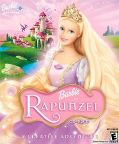 Barbie as Rapunzel//I was a huge fan of her dragon friend, and magic paintbrush. What am I gonna do when the kids stop liking barbie movies??