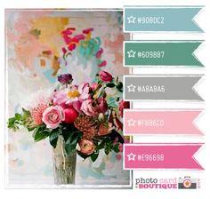 Vintage Gathering Wedding Flowers Palette to help you choose your colour scheme Colour Pallette, Colour Schemes, Color Patterns, Color Combinations, Teal Colors, Room Colors, Teal Blue, Aqua, Design Seeds