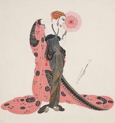 illustration by Romain de Tirtoff, known as Erte (1892-1990).