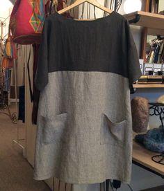Stylish dress book dress D by Yoshiko Tsukiori in Lithuanian linen.